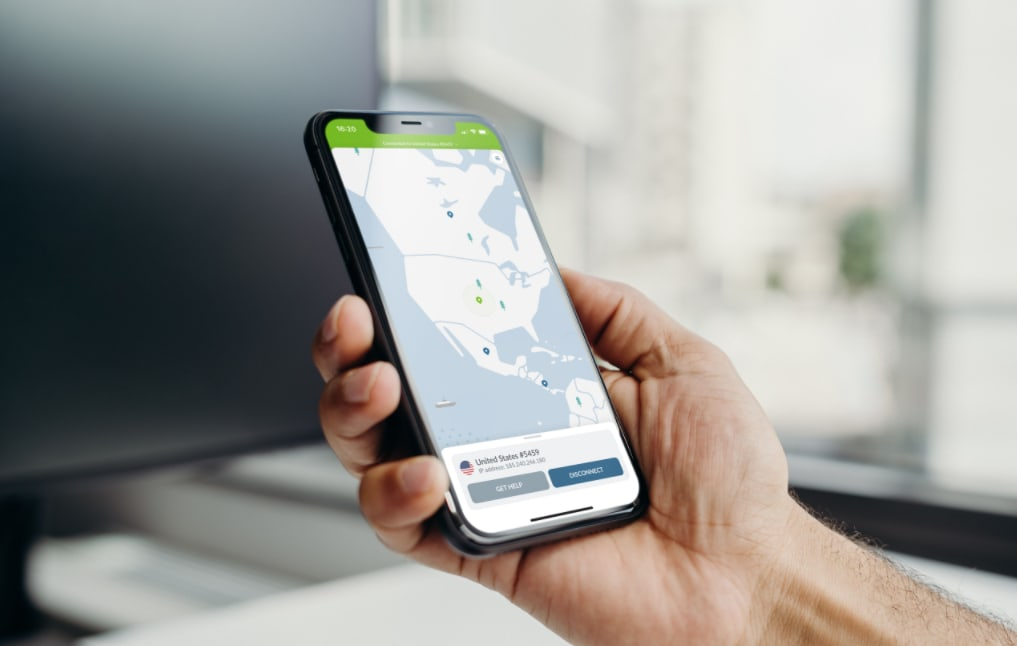 NordVPN smartphone app