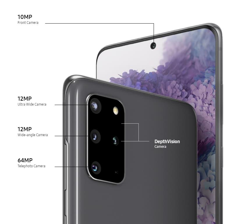 Samsung Galaxy S20+ cameras