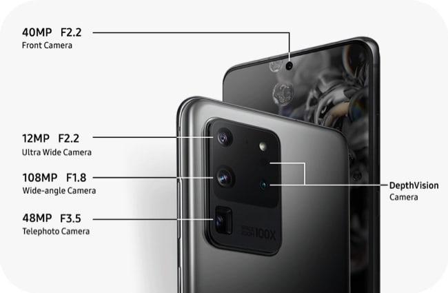 Samsung Galaxy S20 Ultra cameras