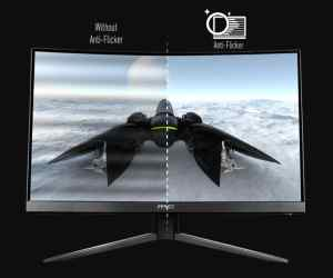 MSI Optix MAG241C anti-flicker technology comparison