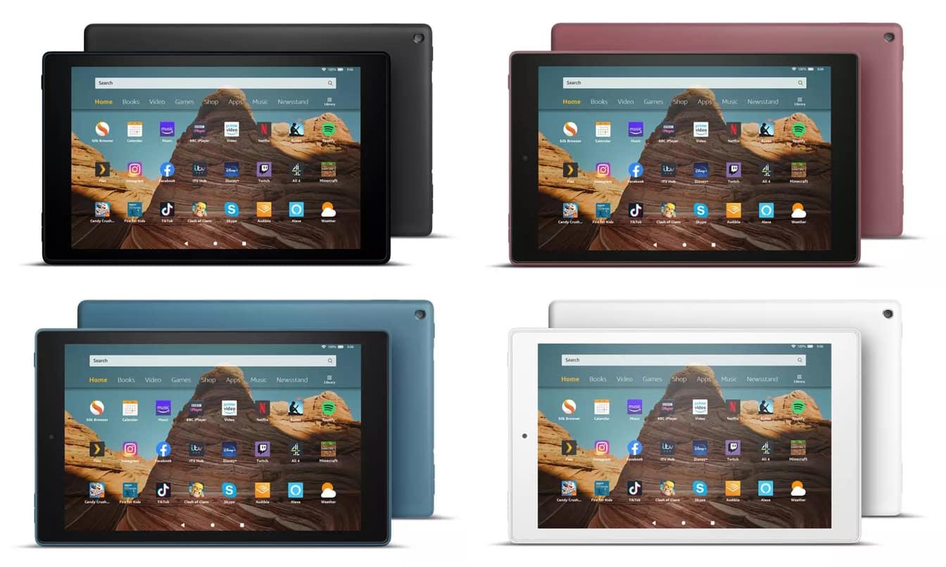 Amazon Fire HD 10 tablet colours