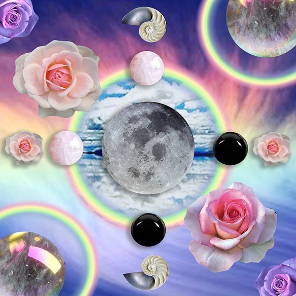 Libra Full Moon April 2020 Original Artwork by Sarah Faith Gottesdiener Modern Women Tarotscopes Many Moons Visual Magic