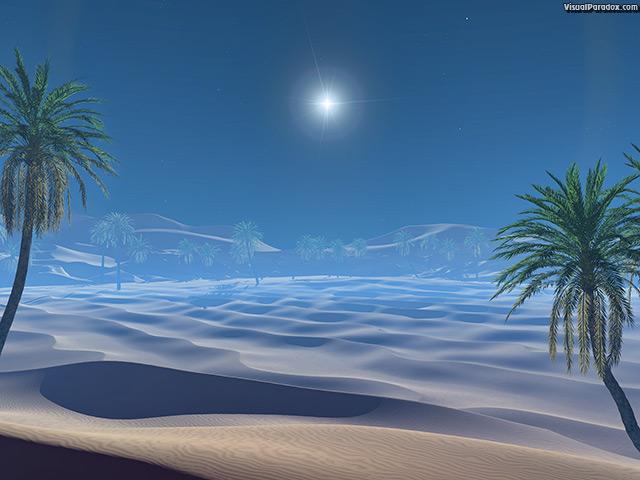 Visual Paradox Free 3D Wallpaper Desert Star multiple