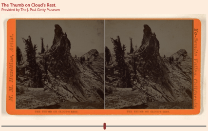 Screenshot of the image viewer showing two black and white identical images on board (the stereograph)