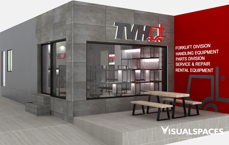 TVH Singapore Office - Showroom Facade Design
