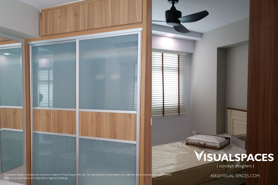 Daughters Bedroom after Design and Renovation - Punggol Walk by Visual Spaces