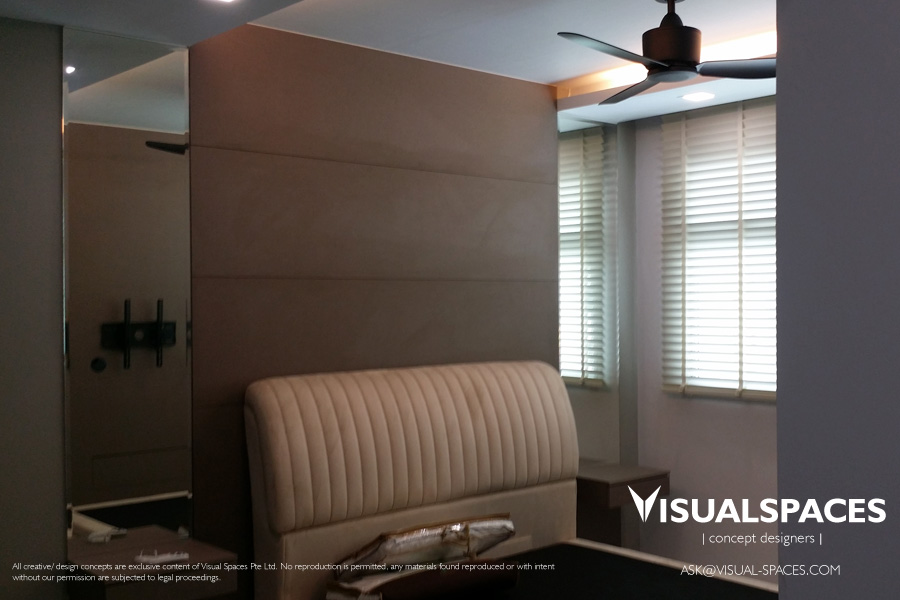Master Bedroom after Design and Renovation 1 - Punggol Walk by Visual Spaces