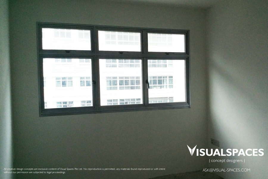 Master Bedroom before Design and Renovation - Punggol Walk by Visual Spaces