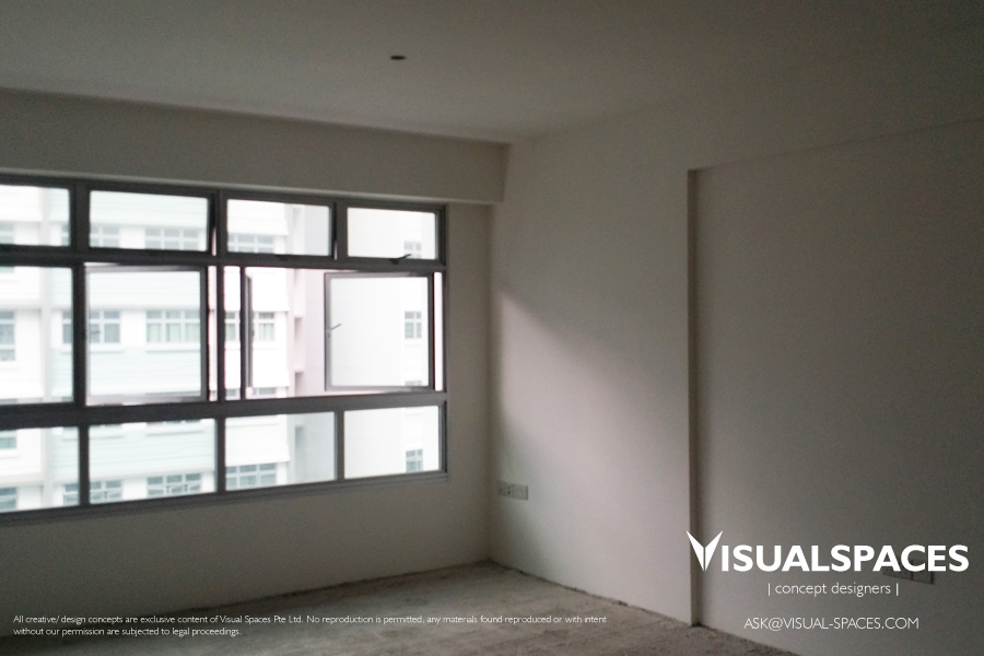 TV Console before renovation - Punggol Walk by Visual Spaces