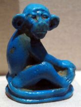Amarna style monkey from Egyptian antiquities in the Brooklyn Museum