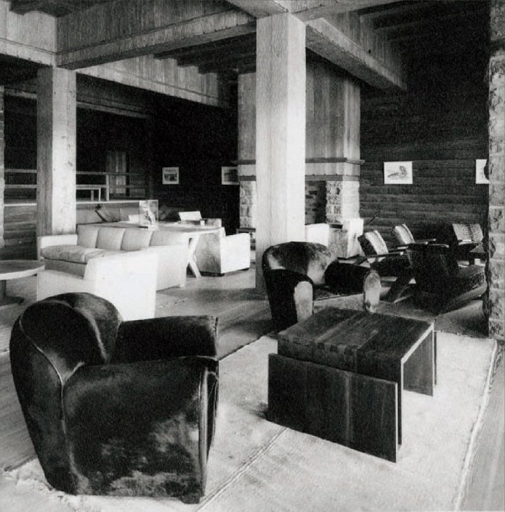 Main hall, original furniture