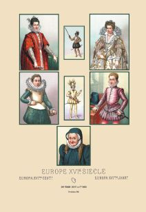Assorted portraits of 16th century Europeans.