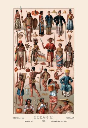 Tribal garb of Oceania.