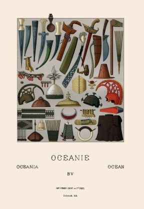 Weapons and armor of Oceania.