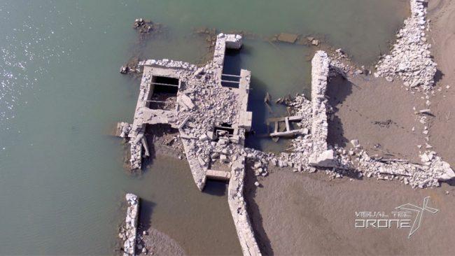 Control de ruinas en pantanos con drones.