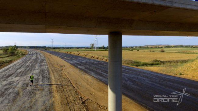 Obra civil, revisión de pilares y puente VTDrone