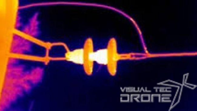 Foto termo gráfica con drone.