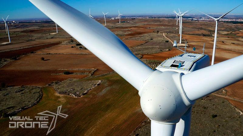 Instalaciones energéticas, parques eólicos con Vtdrone