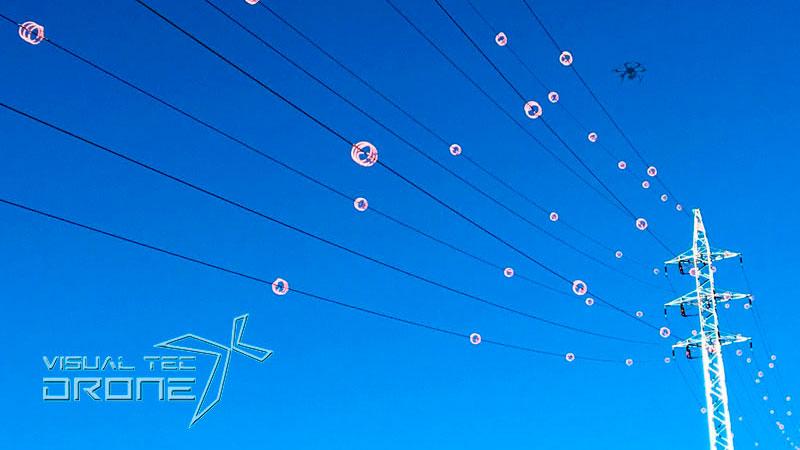 Instalaciones energéticas de líneas de alta tensión visual tec drone