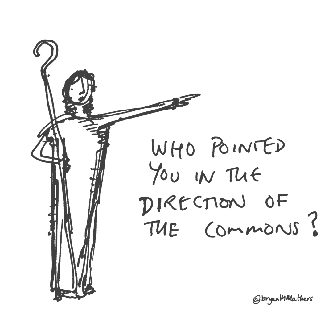 Who pointed you towards the commons