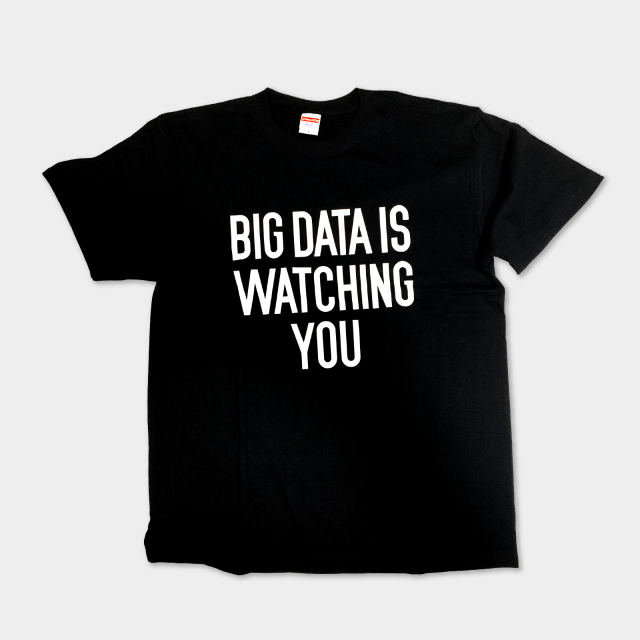櫻田潤 Tシャツ BIG DATA IS BIG DATA IS WATCHING YOU