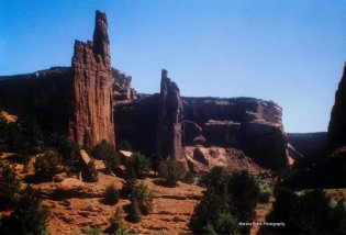 Canyon de Chelley on the Navajo Reservation in the desert Southwest | Marsha J Black
