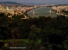 Budapest, Hungary from the top of the Citadel   Marsha J Black