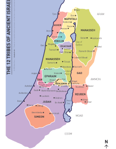map showing the land allotted to each of twelve tribes ancient israel pdf version kb also updated visual unit rh visualunit