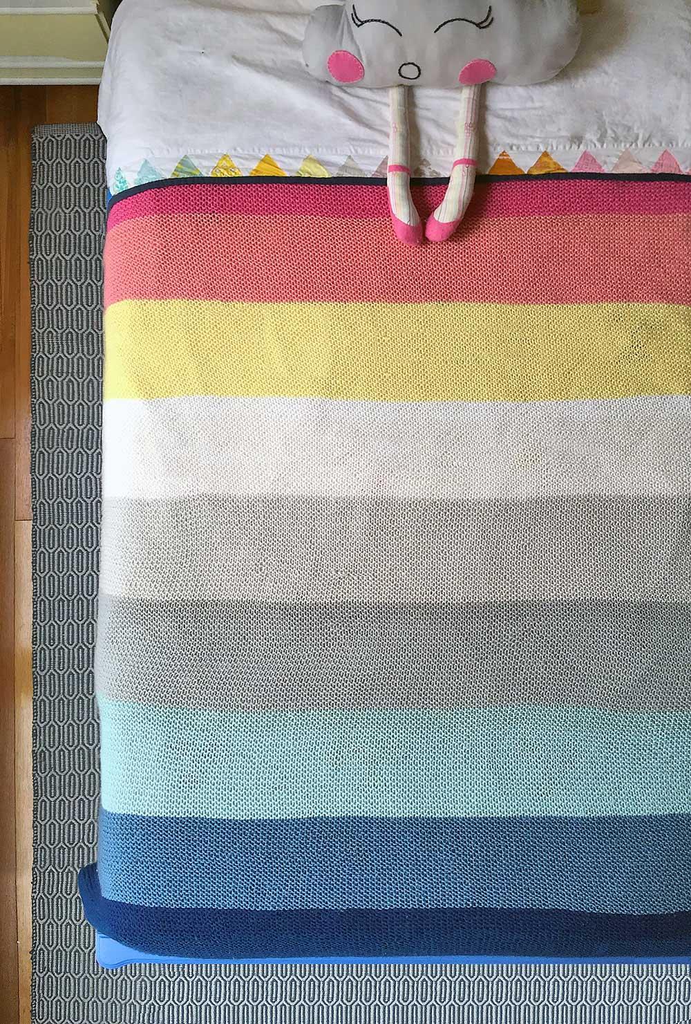 Striped-Knit-Blanket