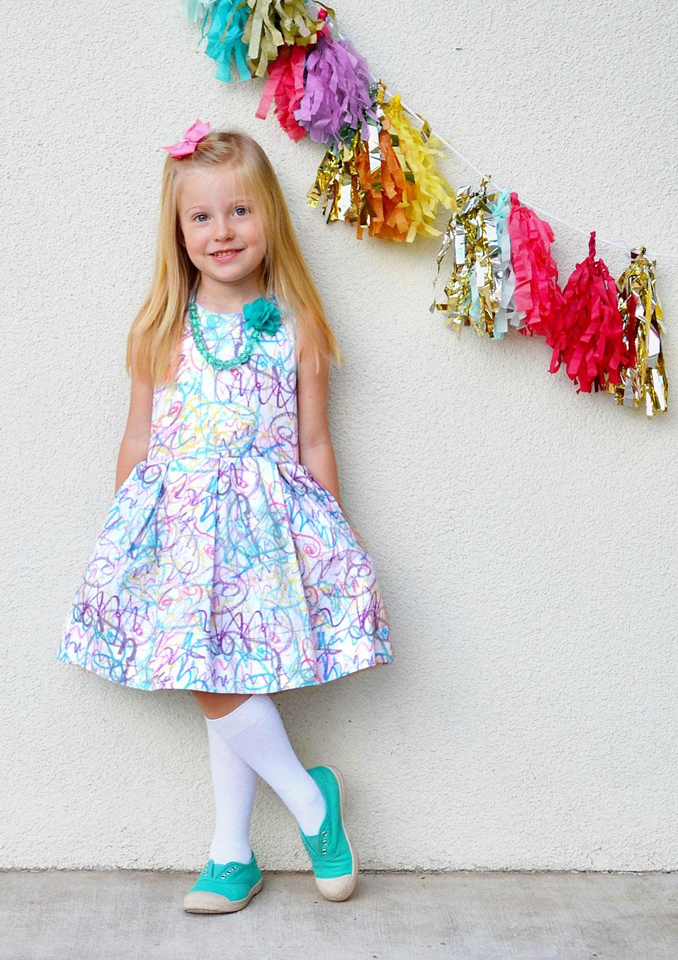 Scribble-Print-Dress