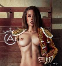 Art Work: Gonzalo Villar – Model: Olga Alberti – Photo of model: Arkady Kozlovsky