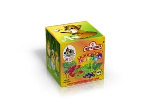 Детские фруктово-ягодные чаи - Вкусная азбука (4 кубика по 4 буквы)