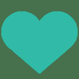 Vita Centre Turquoise Heart