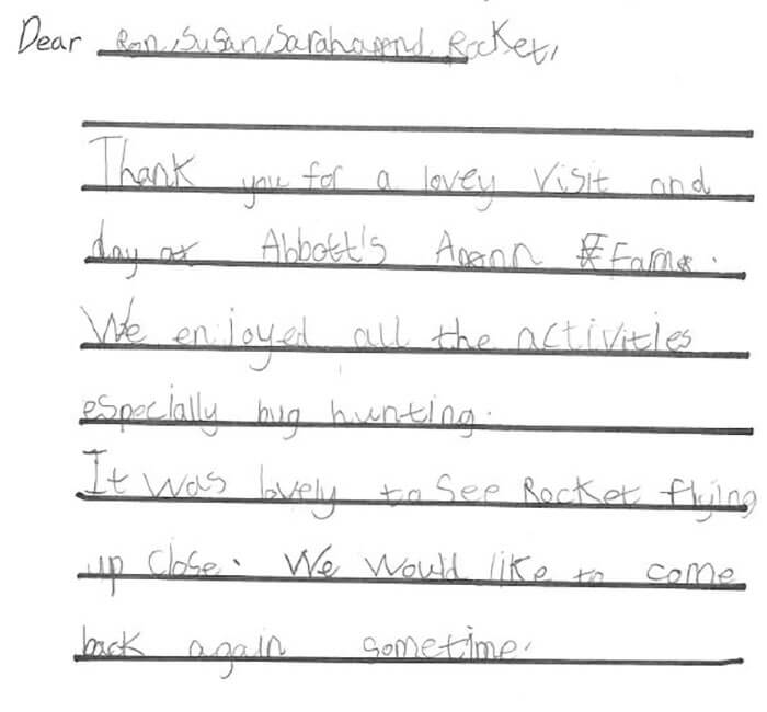 School thank you letter