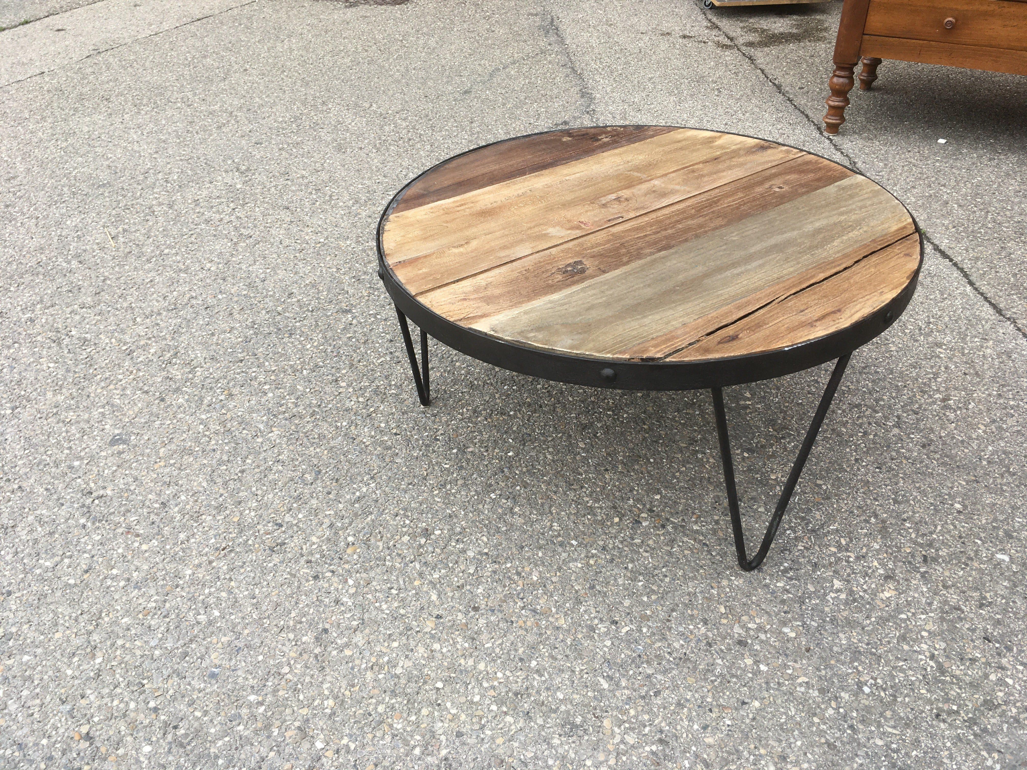 Pied Epingle Table Basse Table Basse De Salon Ronde En Bois Et