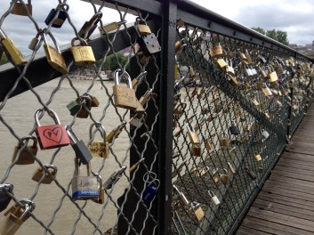 """Love-locks"" on Pont des Arts"