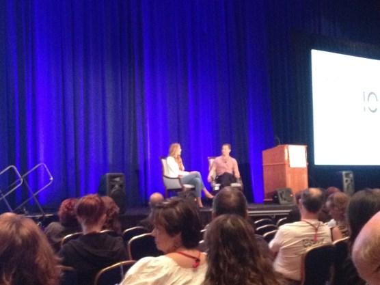 Paul Shapiro (VP of HSUS) interviewing Kathy Freston, vegan author.