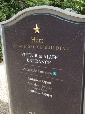 The Hart Senate building, where I lobbied the staff of Senators Boxer and Feinstein on animal protection legislation.