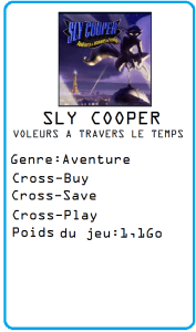 sly cooper Voleurs a travers le temps