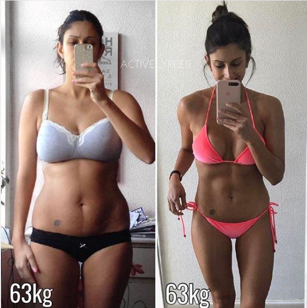 gleiches Gewicht bei verschiedenen Trainingsstufen