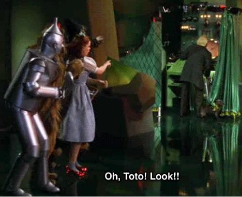 Dorothy Sees Behind the Curtain