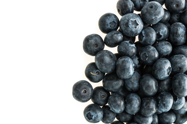 Group of Blueberry or blueberries fruit isolated on white background