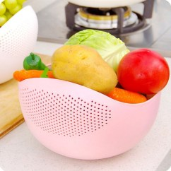 Small Kitchen Dining Sets Painted Gray Cabinets Vegetable Rice And Fruits Washing Bowl & Strainer Eco ...