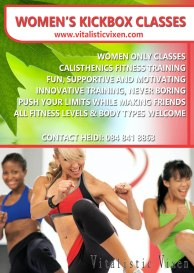 Womens kickboxing A6 flyer