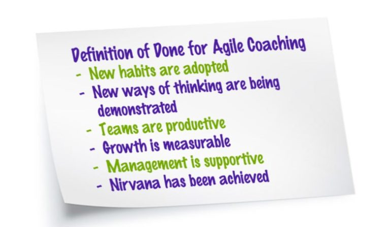 Exit Criteria for Agile Coaching