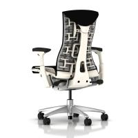 Herman Miller Embody Chair Black Rhythm with White Frame