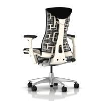 Herman Miller Embody Chair Black Rhythm with White Frame ...