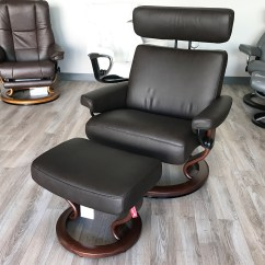 Recliner Chair With Ottoman Manufacturers Wooden Eddie Bauer High Stressless Taurus Paloma Mocca Leather And