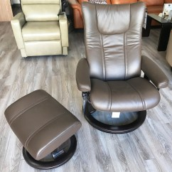 Leather Chair Ottoman Affordable Salon Chairs Stressless Wing Paloma Chestnut Recliner And In
