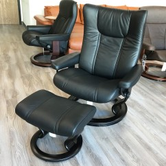 Wing Chair Recliner Leather Repair Lawn Seat Stressless Paloma Black And